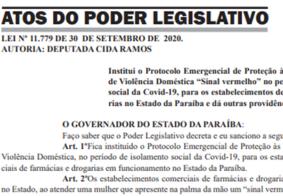 Na PB: entra em vigor lei que institui protocolo de proteção às mulheres vítimas de violência