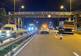 Homem morre ao tentar atravessar BR-101 em João Pessoa