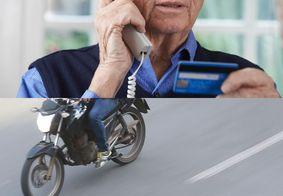 Novo golpe coleta informações por telefone e consegue cartão de idosos via motoboy, na PB