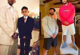 Will Smith refaz foto com filho depois de 28 anos