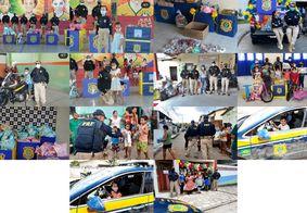 PRF realiza entrega de 1,5 mil brinquedos durante a campanha do Dia das Crianças na PB