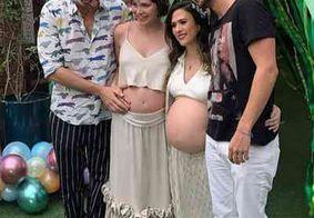 Grávida de 7 meses, Tatá Werneck faz chá de bebê junto com Letícia Colin