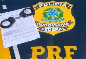 Foragido da justiça é preso pela PRF na Paraíba pelo crime de estelionato
