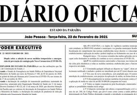 Novo Diário Oficial divulgado nesta terça-feira