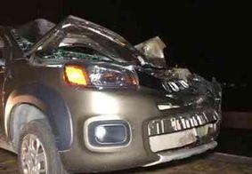 Motorista tem traumatismo craniano e cavalo morre após colisão em cima de viaduto, na Grande JP