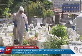Número de pessoas enterradas em JP em março quase supera fevereiro