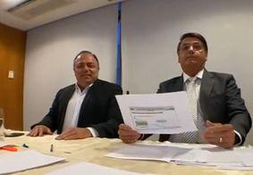 Ministro da Saúde, Pazuello, e Jair Bolsonaro