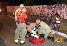 Motociclista fica ferida ao tentar segurar filha que cochilava na garupa da moto, em JP