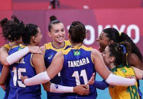 Brasil vence a Sérvia e segue invicto no vôlei feminino