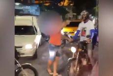 Vídeo   Motorista armado ameaça motoboy durante protesto em JP