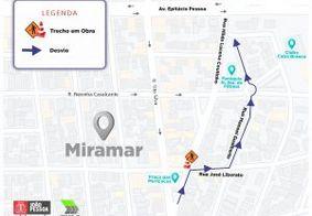 Mapa de como ficará as ruas nesta segunda (2).