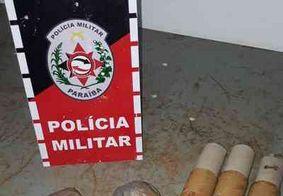 Integrantes de torcida organizada são detidos após atirar rojões na direção da polícia, no Almeidão