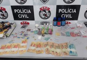 Drogas apreendidas na Paraíba