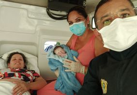 Mãe e Bebê foram encaminhado à maternidade após o parto