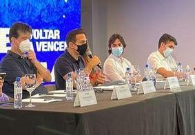 Mesa composta por João Dória e deputados do PSDB.