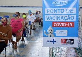 João Pessoa continua vacinando idosos com 64 anos ou mais nesta quarta (24)