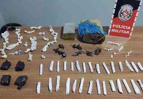 Foragido da justiça é preso com cocaína e maconha durante ação policial na cidade de Campina Grande