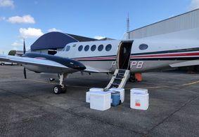 Avião saiu carregado com vacinas ao Sertão do estado