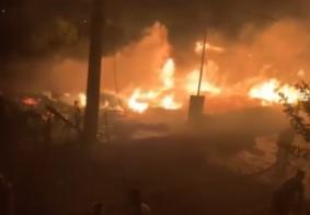 Incêndio dura mais de 8h e destrói madeireira no interior da PB