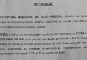 Comerciantes fazem protesto contra retirada de alvenarias determinada pela SEDURB-JP