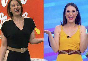 Chris Flores e Cátia Fonseca entram no programa uma da outra ao vivo e web reage; confira