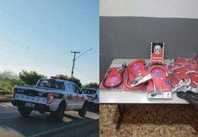 Preso trio suspeito de furtar lojas em pelo menos oito municípios da PB