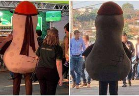 Mascote da 'Feira do Amendoim' em SP viraliza na web; saiba motivo