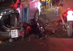 Colisão entre carro e moto deixa um ferido em rodovia federal no interior da PB