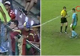 Goleiro do Lara é atingido por garrafa na cabeça em jogo contra o Corinthians; veja