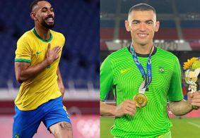 Matheus Cunha e Santos defenderam o Brasil no Futebol em Tóquio