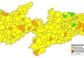Avaliação aponta que 90% da cidades da Paraíba estão na bandeira amarela; entenda o por quê