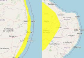 Inmet divulga alerta de perigo potencial para 145 cidades da Paraíba