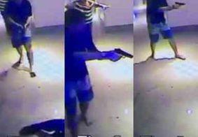 Câmera mostra momento em que psicólogo paraibano atira em funcionários de hotel, no Recife