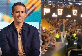 Ryan Reynolds leva susto após estrutura ceder na CCXP