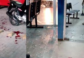 Sem atendimento, homem quebra vidraça de UPA e acaba ferido, em João Pessoa