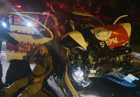 Viatura da PM se envolve em acidente durante perseguição na Zona Sul de João Pessoa