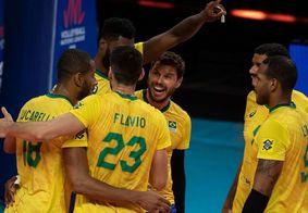 Brasil derrota EUA e segue 100% na Liga das Nações de vôlei masculino