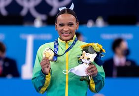 Rebeca Andrade garante ouro para o Brasil no salto; veja