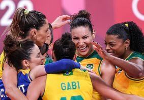 Brasileiras vão enfrentar o Comitê Russo nas quartas de final do vôlei