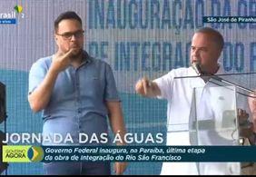 'Águas da Transposição chegaram ao Sertão da PB', anuncia ministro