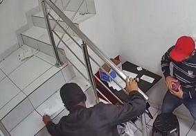 Câmeras de segurança do posto invadido em JP