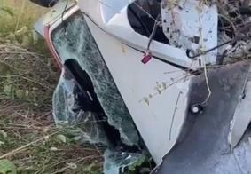 Casal de jovens é socorrido após acidente no interior da Paraíba