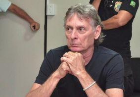 Roberto durante depoimento após prisão em 2019.