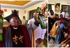 Igreja batiza fiéis com bebidas alcoólicas e consumo é liberado nas celebrações; assista