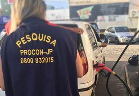 Menor preço do litro da gasolina em João Pessoa é R$ 4,46, aponta pesquisa