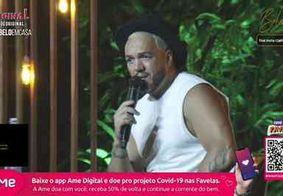 Live de Belo tem 800 mil espectadores e participação de Gracyanne Barbosa
