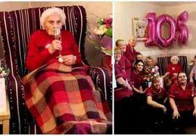 Mulher de 105 anos diz que segredo da longevidade está em 'evitar os homens'