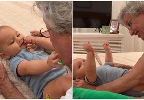 Caetano Veloso aparece em momento fofo com o neto e encanta fãs