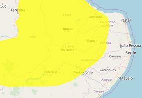 Inmet emite alerta de chuvas para mais de 100 cidades da PB