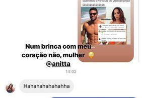 Anitta recebe alerta de seguidora após trocar mensagens com jogador de vôlei